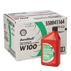 AEROSHELL W100 OIL CASE